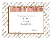 Student Of The Month November