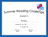 Summer Reading Challenge Blue