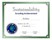 Sustainability Badge certificate