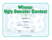 Ugly Sweater Christmas Contest Award