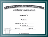 Western Civilization Academic