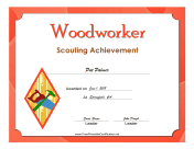 Woodworker Badge certificate