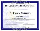 Earth Certificate of Achievement