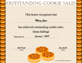 Outstanding Cookie Sales