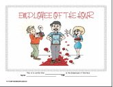 Employee of the Hour Certificate (male)
