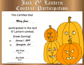 Halloween Jack-o-Lantern Contest Participation