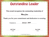 Outstanding Leader