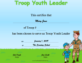 Troop Youth Leader