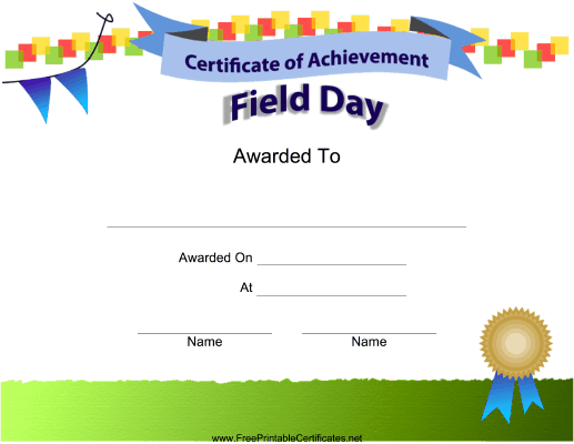 photograph relating to Free Printable Certificates of Achievement named Market Working day Achievements Printable Certification