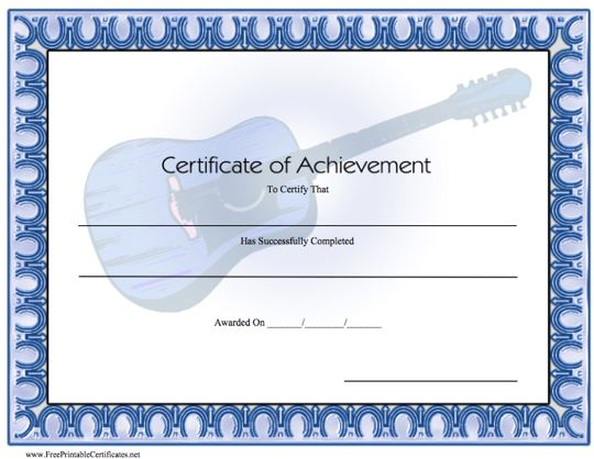This is an image of Free Printable Certificate of Achievement with regard to quarter certificate template
