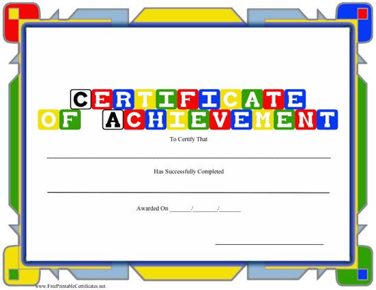 photograph about Preschool Certificates Printable identify Certification of Achievements - Preschool Printable Certification