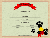talent show certificate template