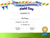 Sports certificates free printable certificates field day achievement pronofoot35fo Choice Image
