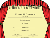 Theatre award certificate template images certificate design and education certificates free printable certificates theatre yadclub images yadclub Images