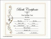 Birth Certificates - Free Printable Certificates