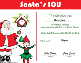 Christmas Certificates - Free Printable Certificates