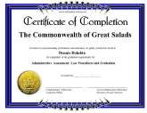 Completion  Printable Certificates Of Completion
