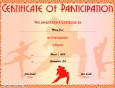 Sports certificates free printable certificates dance participation yadclub Gallery