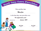 Certificates of appreciation free printable certificates best day care provider yelopaper Gallery