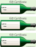 Gift certificates free printable certificates wine gift yelopaper Gallery