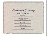 Certificates of Ownership - Free Printable Certificates