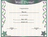 Certificates of achievement free printable certificates well done yadclub Image collections
