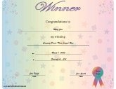 Free Printable Certificates  Certificate Winner