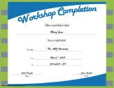 Certificates of completion free printable certificates workshop completion yadclub Gallery