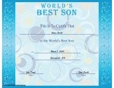 Worlds best certificates free printable certificates worlds best son yadclub Choice Image